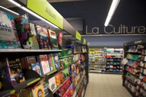 le rayon culture en magasin U