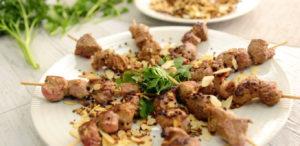 recette de brochettes d'agneau pour Pâques