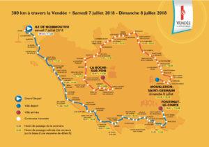 Cartes des 2 étapes en Vendée