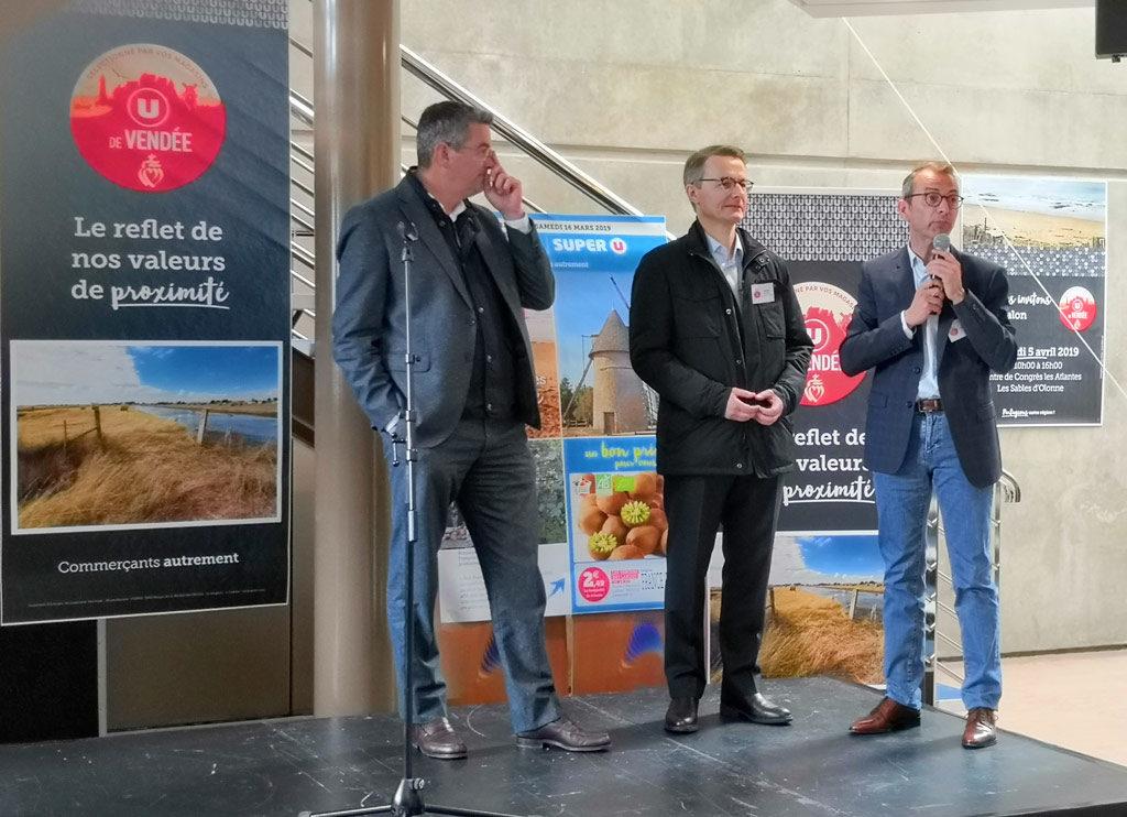 Salon des producteurs de Vendée avec Dominique Schelcher, nouveau PDG de Système U